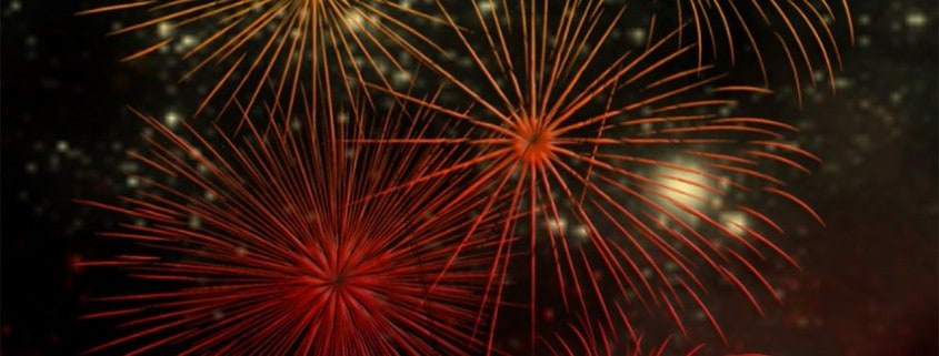 Fireworks Celebrate New Year St. Louis