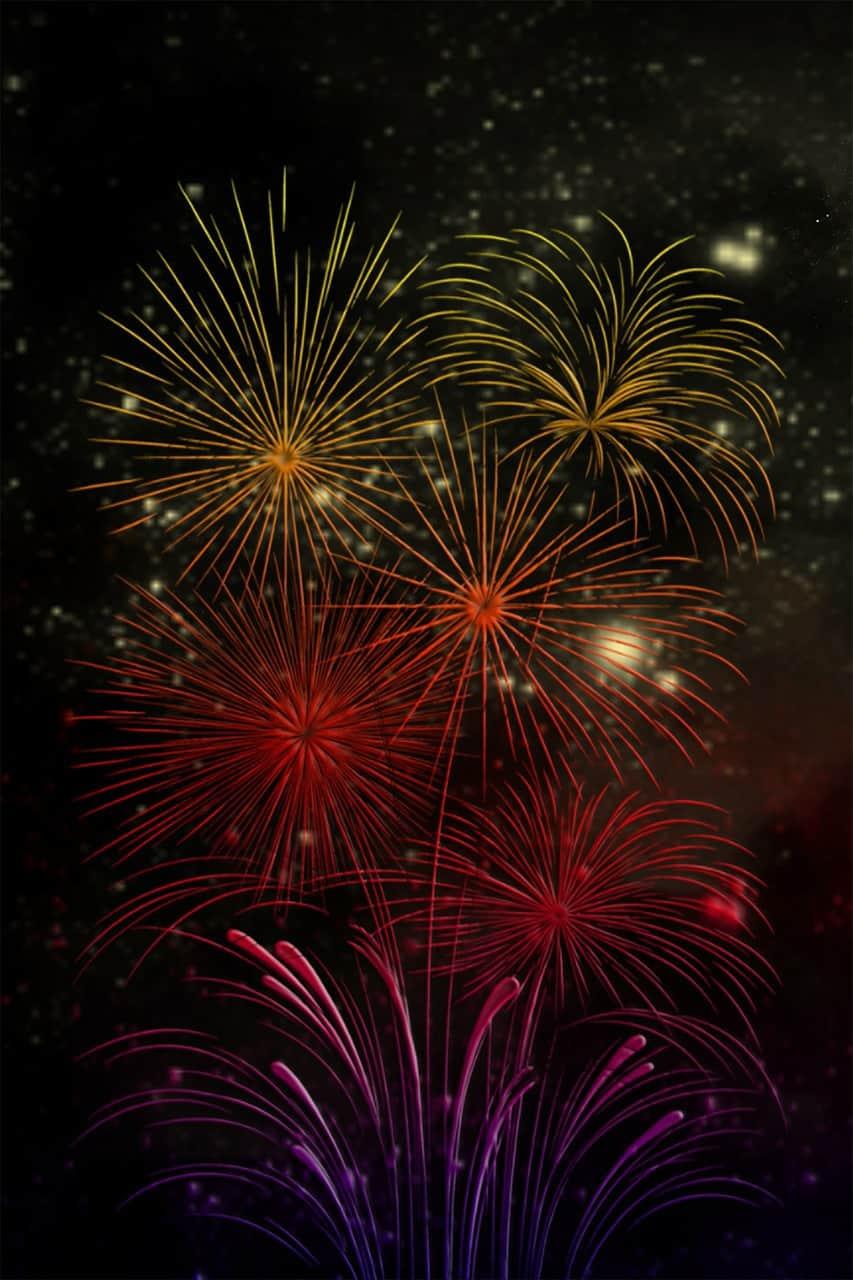 Fireworks Celebrate New Year St. Louis