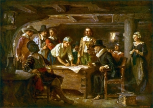 Signing the Mayflower Compact