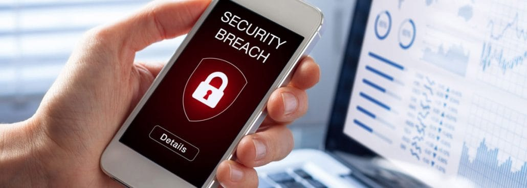 Mobile security breach alert